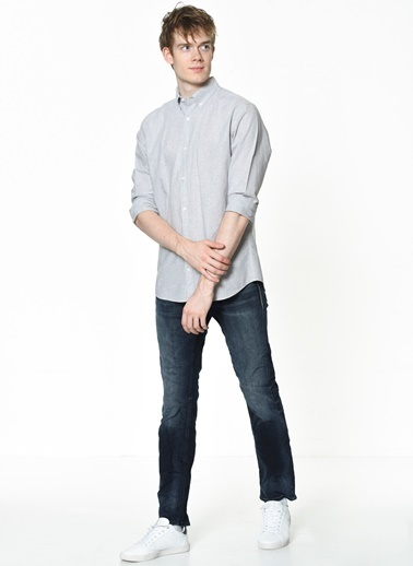 Jack & Jones Uzun Kollu Gömlek Gri